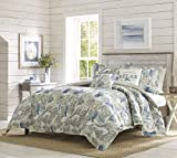 Tommy Bahama Bedding Collection Raw Coast Comforter Set, King, Blue