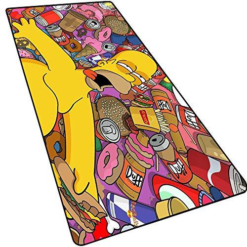 HNT1M Alfombrilla De Escritorio Grande para Oficina En Casa, Tamaño Grande, Base De Goma Antideslizante,Special-Textured Superficie para Gamers Ordenador, Pc Y Lapto Simpson-8