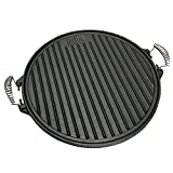GRILL & MORE Essentials, Plaque de Cuisson 2 en 1, Plaque en Fonte, diamètre 43cm, Rond