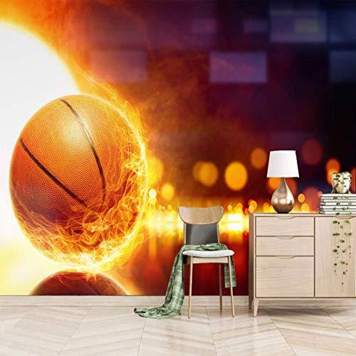 TDYNJJ Wandbild Vlies Fototapete - Cool Flamme Sport Basketball - Fototapete Kinderzimmer - Vliestapete Kinder - Vlies-Tapete Kinderzimmer Mädchen - Geschenk Dekoration