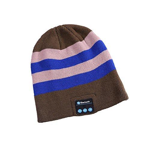 YI WORLD Smart Casquette Bluetooth Beanie (oreillette Bluetooth Hat) Fil Casque Music Hat Microphone intégré Répondre aux appels, 002