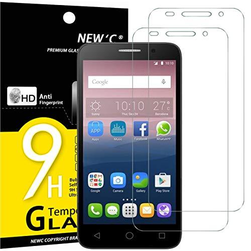 NEW'C 2 Stück, Schutzfolie Panzerglas für Alcatel One Touch Pop 3 (5.0), Frei von Kratzern, 9H Festigkeit, HD Bildschirmschutzfolie, 0.33mm Ultra-klar, Ultrawiderstandsfähig