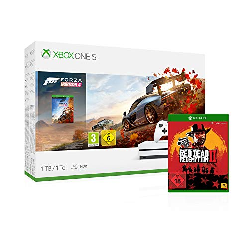 Xbox One S 1TB Forza Horizon 4 Bundle + Red Dead Redemption 2 [Xbox One]