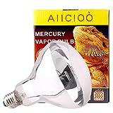 AIICIOO UVA UVB Lampada Riscaldante per Rettili Promuovi Synthesis D3 per Tartaruga/Camaleonte/Serpente/Pulcino E27 220-240V (100W)