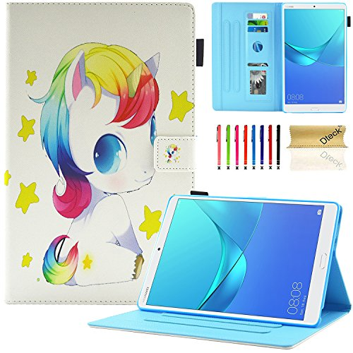 Huawei MediaPad M5 8.4 Case, Dteck Lightweight Slim Fit Smart Stand Cover PU Leather Case with Auto Wake/Sleep Feature for Huawei MediaPad M5 8.4 Inch 2018 Tablet, Baby Unicorn
