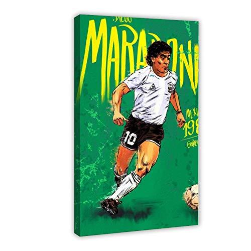 Póster de la Copa del Mundo de Diego Armando Mar-Adona de 1986, lienzo para decoración de pared de 60 x 90 cm