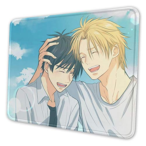 Banana Fish Ash Eiji Shorter Dino Mouse Pad Ergonomic Mousepad with Non-Slip Thick Rubber Base for Home Office Working Studying Gaming Easy Typing & Pain Relief 7.9 X 9.5 in