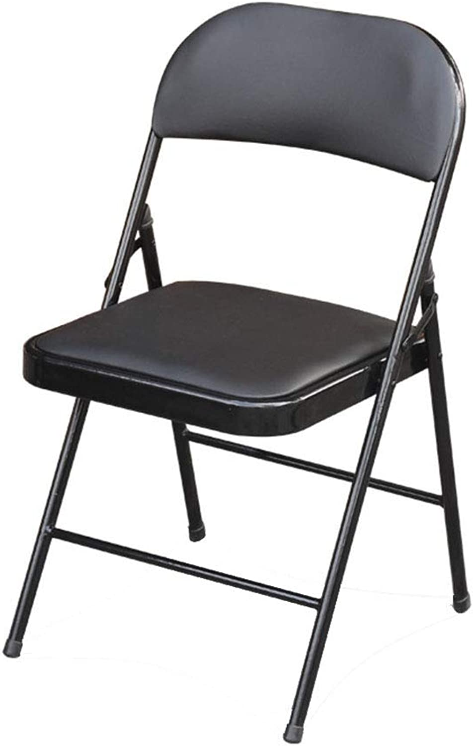 Folding Chair Home Meeting Office Computer Simple Stool(45  45  79CM) (color   Black)