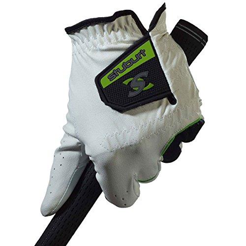Stuburt Stglv08 Urban Gant de Golf pour Homme en Cuir synthétique Cabretta, Homme, STGLV08, Blanc/Noir, Mens Left Hand Medium