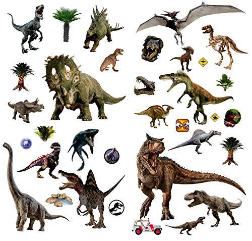BumbleBee Print Dinosaurier Abnehmbare Wandtattoo für Kinder Wohnzimmer 3 Blatt 32 x 45 cm