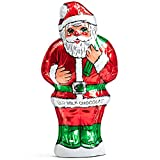 Madelaine Highly Detailed 6 OZ Solid Premium Milk Chocolate Santa Wrapped In Italian Foil - 6 OZ - 1 Pack