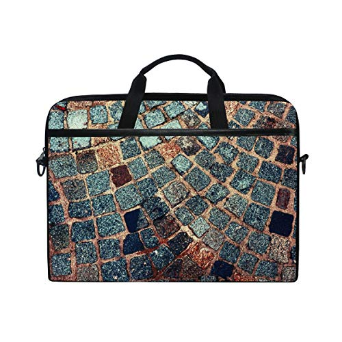Moyyo Abstract Sparkle Stone Texture Laptop Bag Laptop Case with 3 Compartment Shoulder Strap Handle Canvas Computer Bag Personalised for Women Men Kids Girls Boys 15 inch