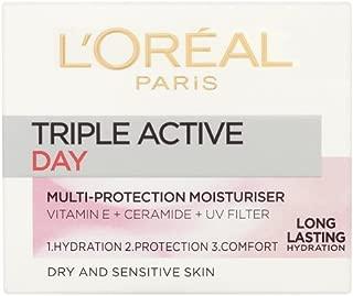 L'Oréal Paris Dermo-Expertise Triple Active Day Multi-Protection Cream Dry-Sensitive Skin (50ml)