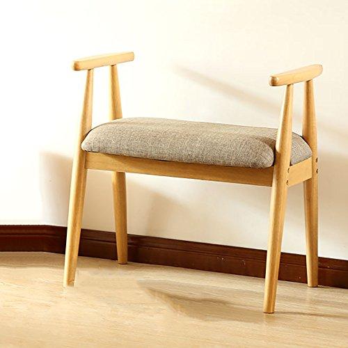 LJHA Tabouret pliable Repose-pieds en bois solide/simple tabouret de canapé de salon/changement de porte de porte de chaussures tabouret chaise patchwork (Couleur : Couleur du bois)