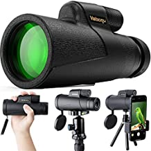 Vabogu Monocular Telescope 12x50 High Power Monocular for Bird Watching Adults with Smartphone Holder & Tripod BAK4 Prism for Wildlife Hunting Camping Travelling