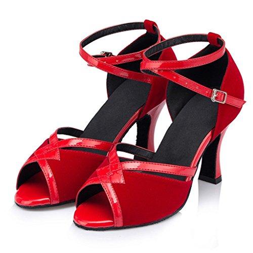 Meijili , Damen Tanzschuhe , rot - rot - Größe: 42