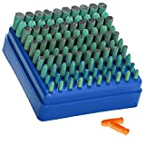 Eagles Polishing Accessories 100pcs Rubber Grinding Heads,3mm Shank Assorted Accessory, Mounted Point Wheel...