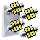 【ベルライト】BELLELiGHT T10×31mm LEDバルブ ルームランプ 5630チップ 6連 4個セット 暖色 AX032 (電球色)