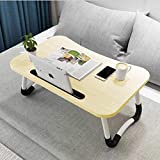 Wooden-Life Laptop Bed Table, Breakfast Tray with foldable legs, Portable Lap Standing Desk, Notebook Stand...