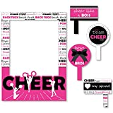 We've Got Spirit - Cheerleading - Birthday Party or Cheerleader Party Selfie Photo Booth Picture Frame & Props - Printed on Sturdy Material