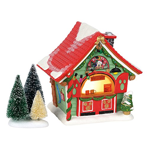 Department 56 Disney Village Mickey Mouse Tree Lot Lit Building, 6 Inch, Multicolor