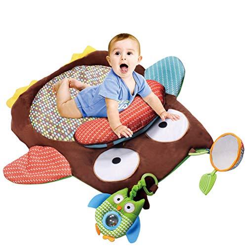 Gong Alfombrilla De Juego para Bebés, Decoración De La Sala De Fitness para Actividades del Bebé, Diseño De Dibujos Animados, Colchoneta De Desarrollo Infantil Gateando