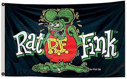 Rat fink banner Poster printMan cave flag wall hanging sign shed rat fink USA
