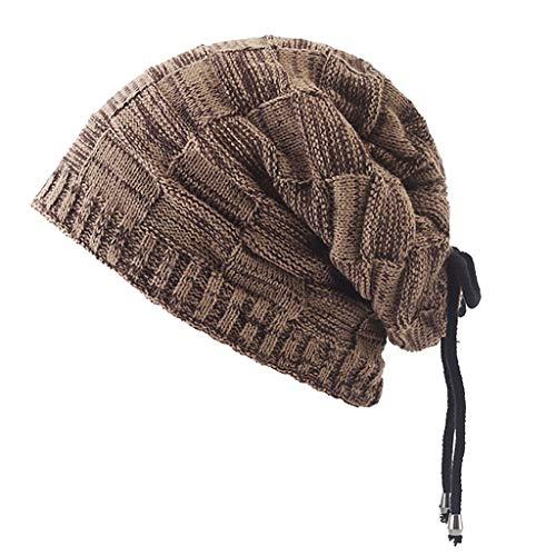 ZRJ Calentador de cuello para hombre y mujer, forro polar para el cuello, grueso para el esquí, bufanda cálida para la cara, bufandas, gorro de múltiples usos, regalos de invierno (color: marrón)