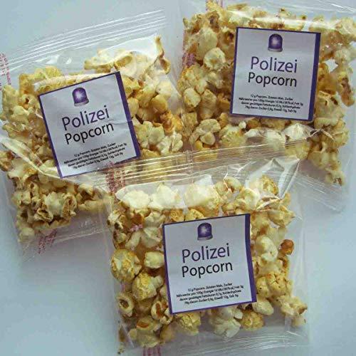 Popcorn Tütchen Polizei 10 Stück // Popcorn 10x12g Thema Polizei