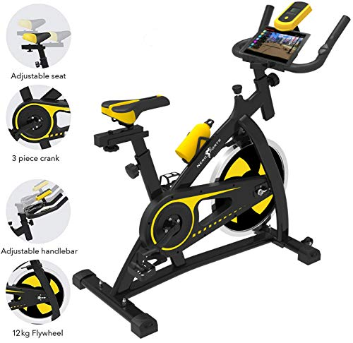Nero Sports Upright Exercise Bike Indoor Studio Cycles Aerobic Training Fitness Cardio...