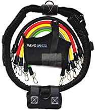 WearBands 5-Band Resistance Bands Training and Exercise System for Sports, Fitness, Booty Building & Toning, Rehab, Conditioning, Weight Loss, Home, and Travel Fitness