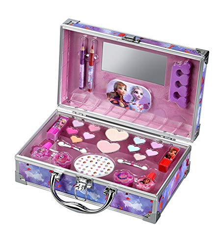 Frozen II Maletin Aluminio Maquillaje Infantil 26 Elementos 790 g