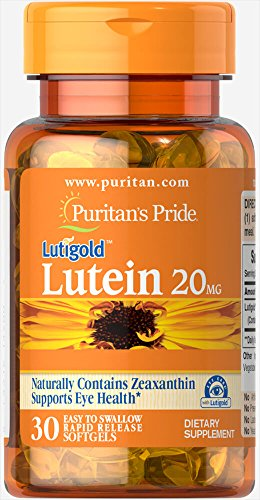 Puritan's Pride Lutein 20 mg with Zeaxanthin 30 softgels