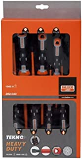 Bahco Tekno Screwdriver Set 7-Piece Insulated Slotted Head Ph