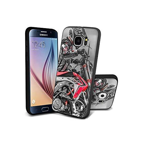 XaNChVlI Compatible con Samsung Galaxy S6 Edge Funda diseño de patrón, Color Negro Ultra Delgado Suave TPU Silicona a Prueba de Golpes, Funda para Samsung Galaxy S6 Edge #A010