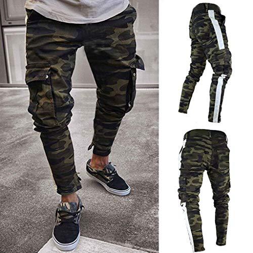 B/N TriLance Herren Cargohose aus Baumwolle | Lange Regular Fit Cargo Hose Baumwollhose Freizeithose Wanderhose Trekkinghose Men Pants Camouflage Jeans Outdoorhose für Männer