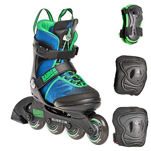 K2 Inline Skate Set RAIDER PRO PACK Für Jungen Mit K2 Softboot, Blue - Green, 30E0503