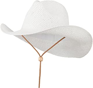 Adjustable String Straw Cowboy Hat