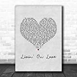 NHMug Alan Jackson Livin On Love Grey Heart Song Lyric Music Art Print Wall Art Print Painting Home Decor Gifts for Lovers Poster [No Framed]