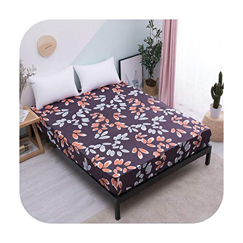 Bedspread 2019 New Mattress Protector Waterproof Mattress Covers Popular Pattern Printing Cover For Bed 160X200Cm Breathable-Color 11-Us Full 54X76X12In.