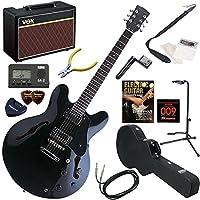 TonySmith エレキギター 初心者 入門 セミアコ 人気のVOX Pathfinder10が入った本格14点セット SA-420/BK(ブラック)