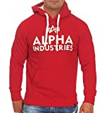 Alpha Industries Foam Print 143302 Speed – Sudadera para hombre Red (328) L