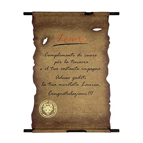 Pergamena Biglietto Auguri Laurea Congratulazioni Laureato/Laureata