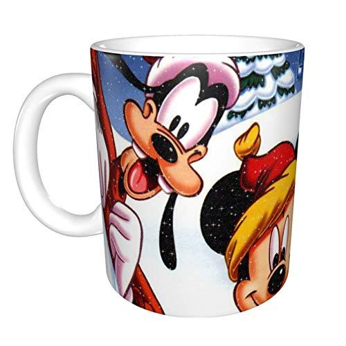 Lawenp Taza de café D-isney M-ickey Mouse y D-onald Duck, taza de té, ideas de regalos para el día de la madre, cumpleaños, Navidad, tazas de café para capuchino, café con leche, chocolate caliente