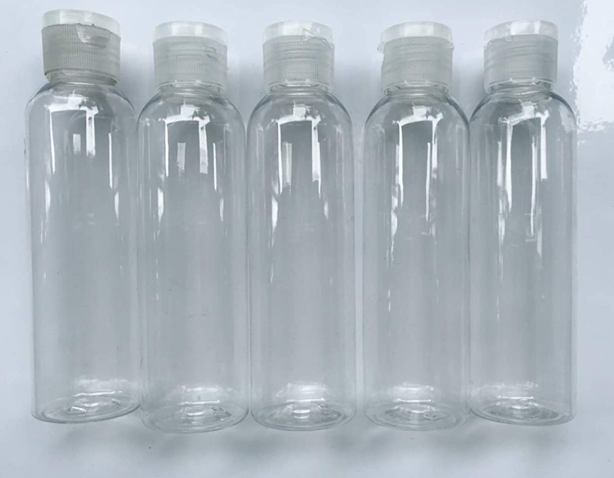 堤防柔らかさ正当な旅行用 透明詰め替え容器150ml (クリア)携帯用トラベルボトル5本セット/シャンプー、化粧水、ローション、乳液などの基礎化粧品や調味料入れに