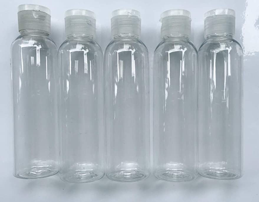 労働不正確ホバート旅行用 透明詰め替え容器150ml (クリア)携帯用トラベルボトル5本セット/シャンプー、化粧水、ローション、乳液などの基礎化粧品や調味料入れに