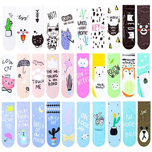 30Pcs Cute Assorted Bookmarks,Accompany You to Read Better and More Convenient by MotBach
