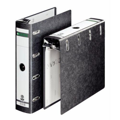 Leitz 18240000 (Hänge-Doppelordner,2x A5 quer, Rückenbreite 7,5 cm, Griffloch, Hartpappe RC, Hängeschwenkbügel aus Kunststoff) schwarz