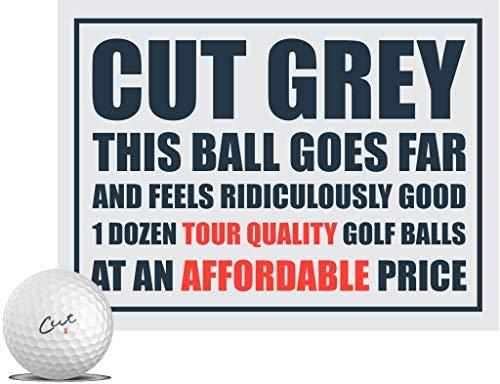 CUT GREY ゴルフボール 1ダース(全12球入) ウレタンカバー 3ピース構造 コンプレッション80 カットゴルフ USA直輸入品 ホワイト