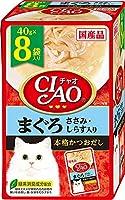(まとめ買い)いなばペットフード CIAO チャオ パウチ まぐろ ささみ・しらす入り 40g×8袋 猫用フード 【×6】